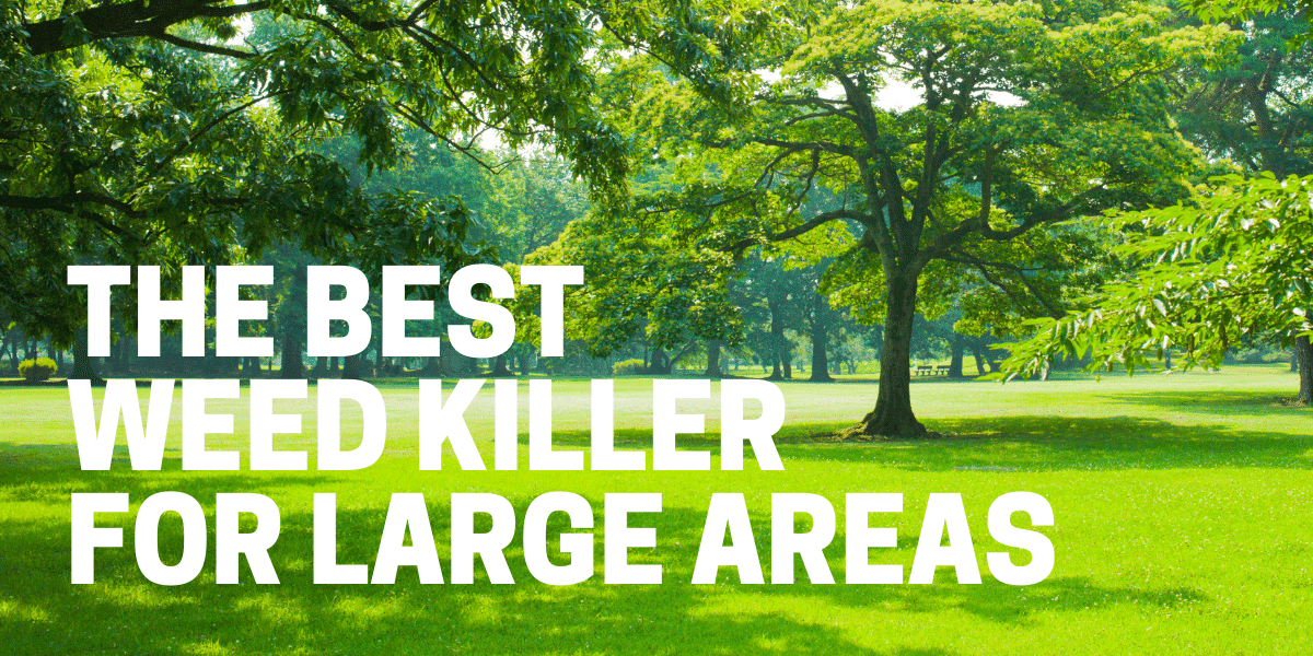best weed killer for large areas applied to acreage