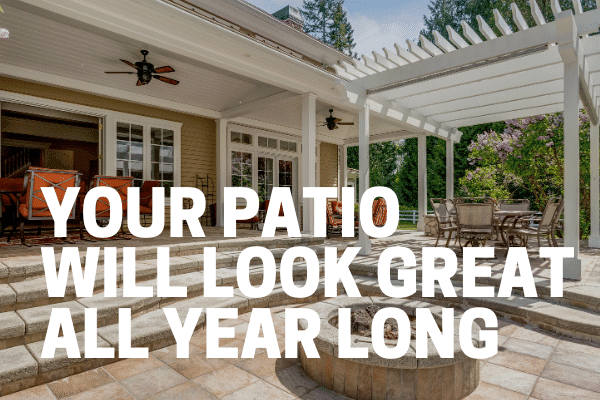 great looking patio without weeds