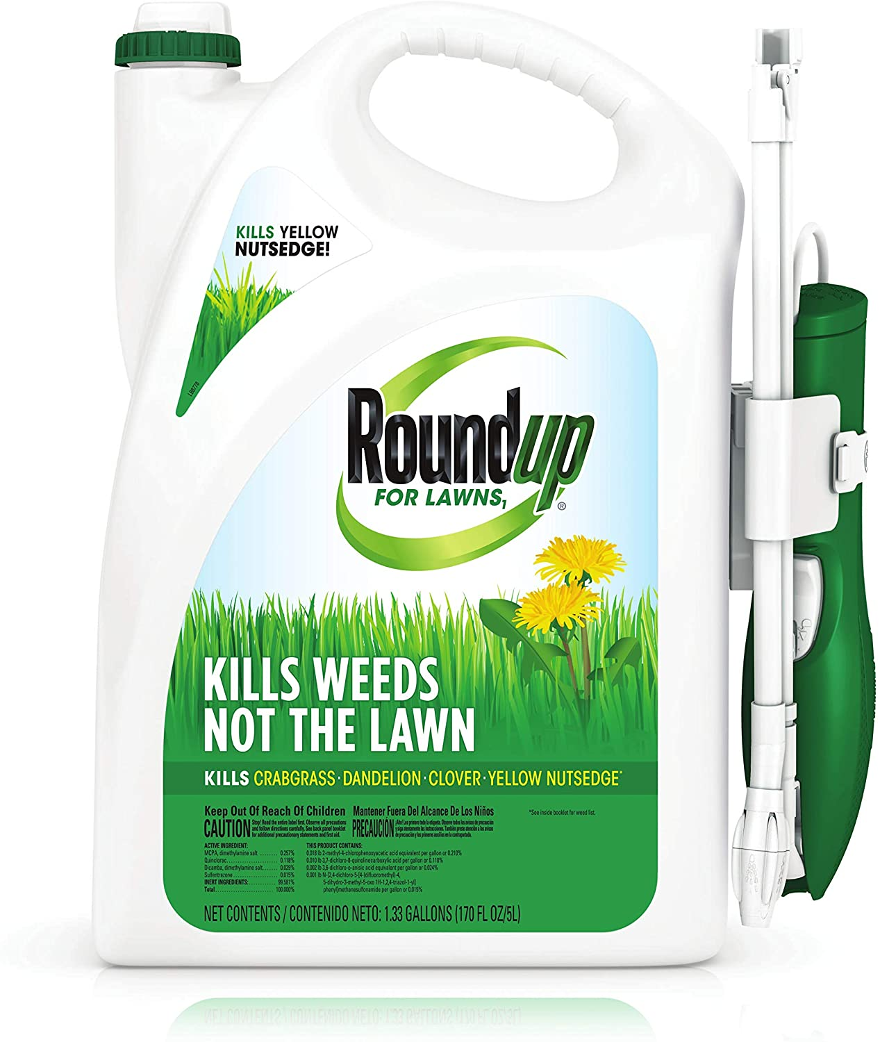 roundup for lawns for northern grasses weed killer bottle