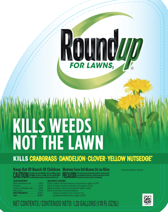 roundup for lawns label and ingredients