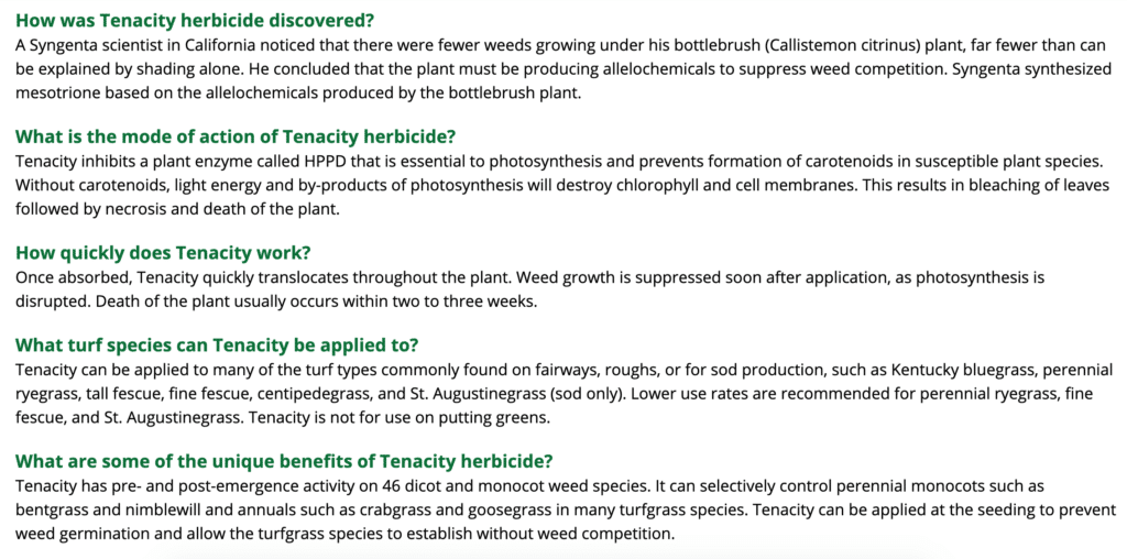 tenacity weed killer frequently asked questions 2 of 3